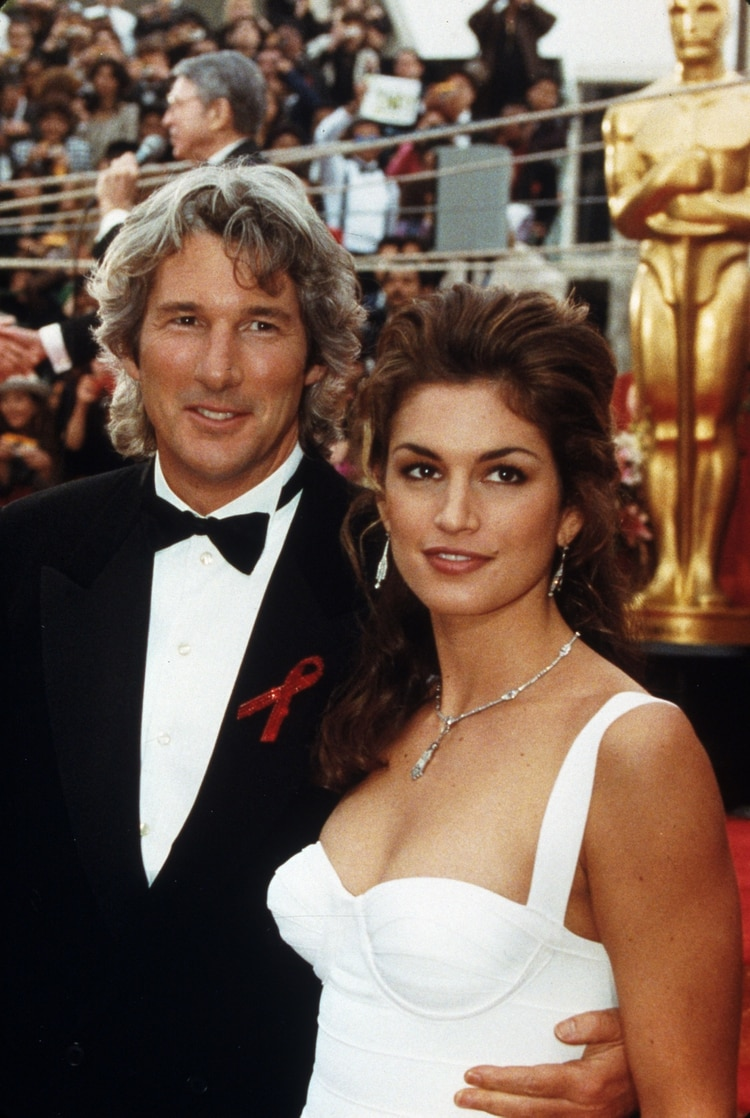 Richard Gere con Cindy Crawford (Shutterstock)