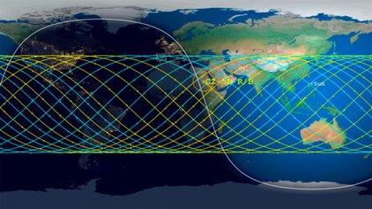 El-cohete-chino-sin-control-se-aproxima-a-la-Tierra