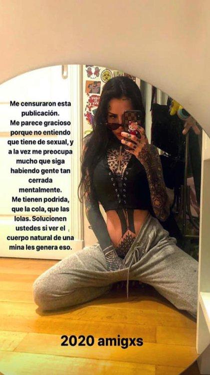 Candelaria Tinelli y la imagen censurada (Foto: Instagram)