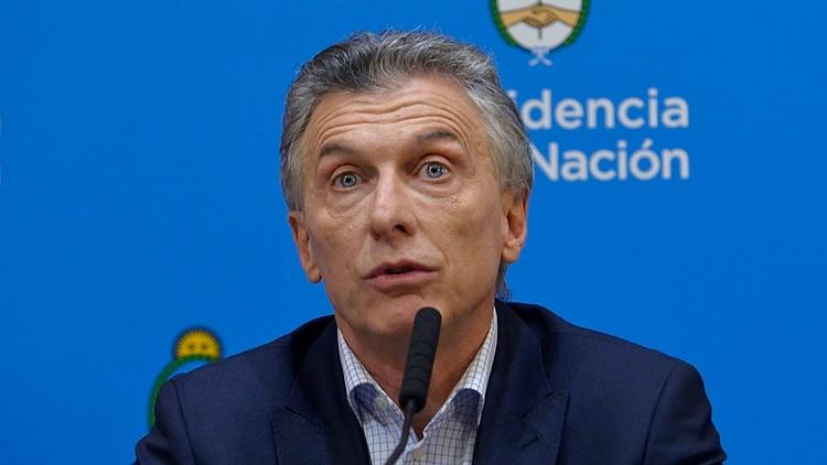 Mauricio Macri, un día después de haber sido derrotado por Alberto Fernández. (Gustavo Gavotti)