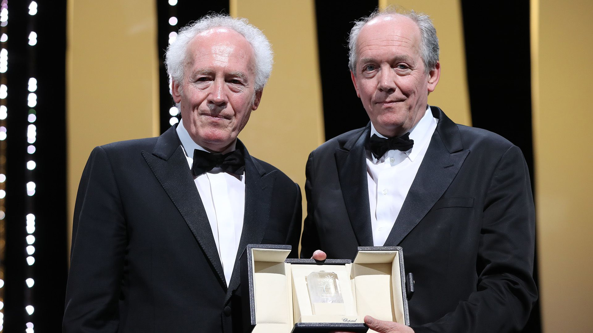 Luc y Jean-Pierre Dardenne (Photo by Valery HACHE / AFP)