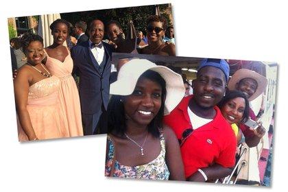 """Imágenes familiares de Rusesabagina en la década de 2010. Luego de """"Hotel Rwanda"""", Rusesabagina vendió su taxi, se enlistó con una agencia de talentos y viajó alrededor del mundo advirtiendo sobre el genocidio."""