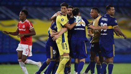 Boca venció en los penales a Inter de Porto Alegre