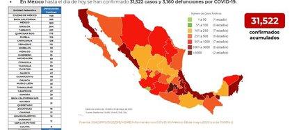 Casos confirmados y defunciones por coronavirus en México (Foto: SSa)
