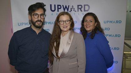 Emiliano Martínez Royano (Dirección General de Gestión Estrátegica del Gobierno de la Ciudad), Pia Pakarinen y Caroline Ramade