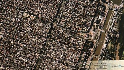 Buenos Aires observada desde el espacio por un microsatélite