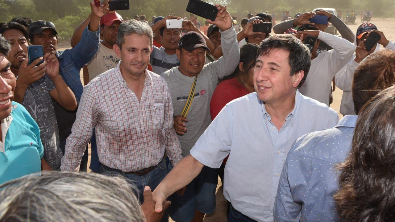 Daniel Arroyo y Gustavo Saenz en Salta