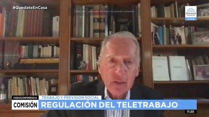 Daniel Funes de Rioja, de la UIA, opinó sobre el teletrabajo ante la Comisión de Trabajo del Senado