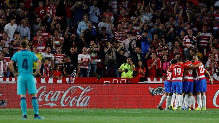 El Granada consiguió un importante triunfo contra el Barcelona REUTERS/Marcelo Del Pozo