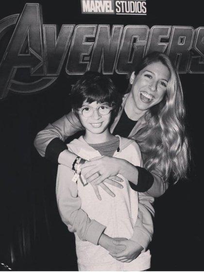 Florencia junto con su hijo, en 2019