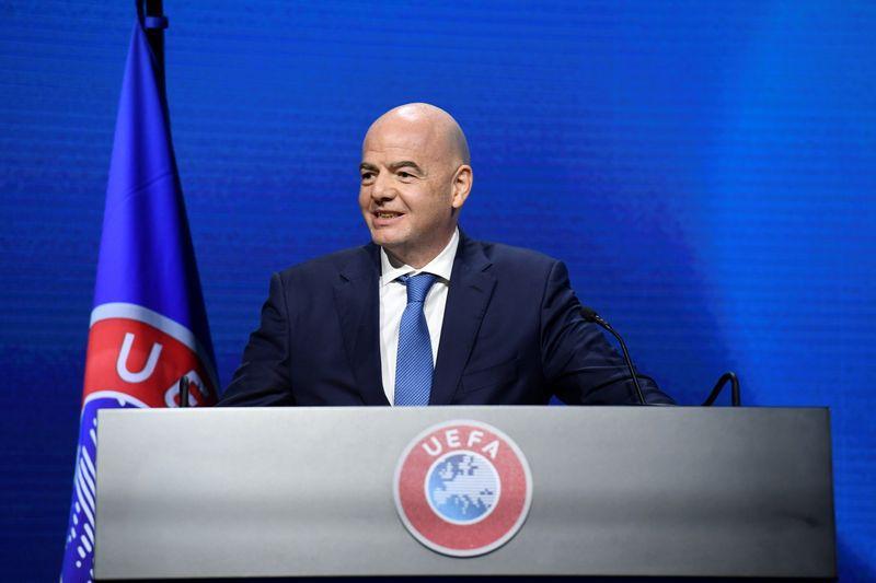 Infantino criticó la creación de la nueva Superliga europea (REUTERS/Richard Juilliart/UEFA)