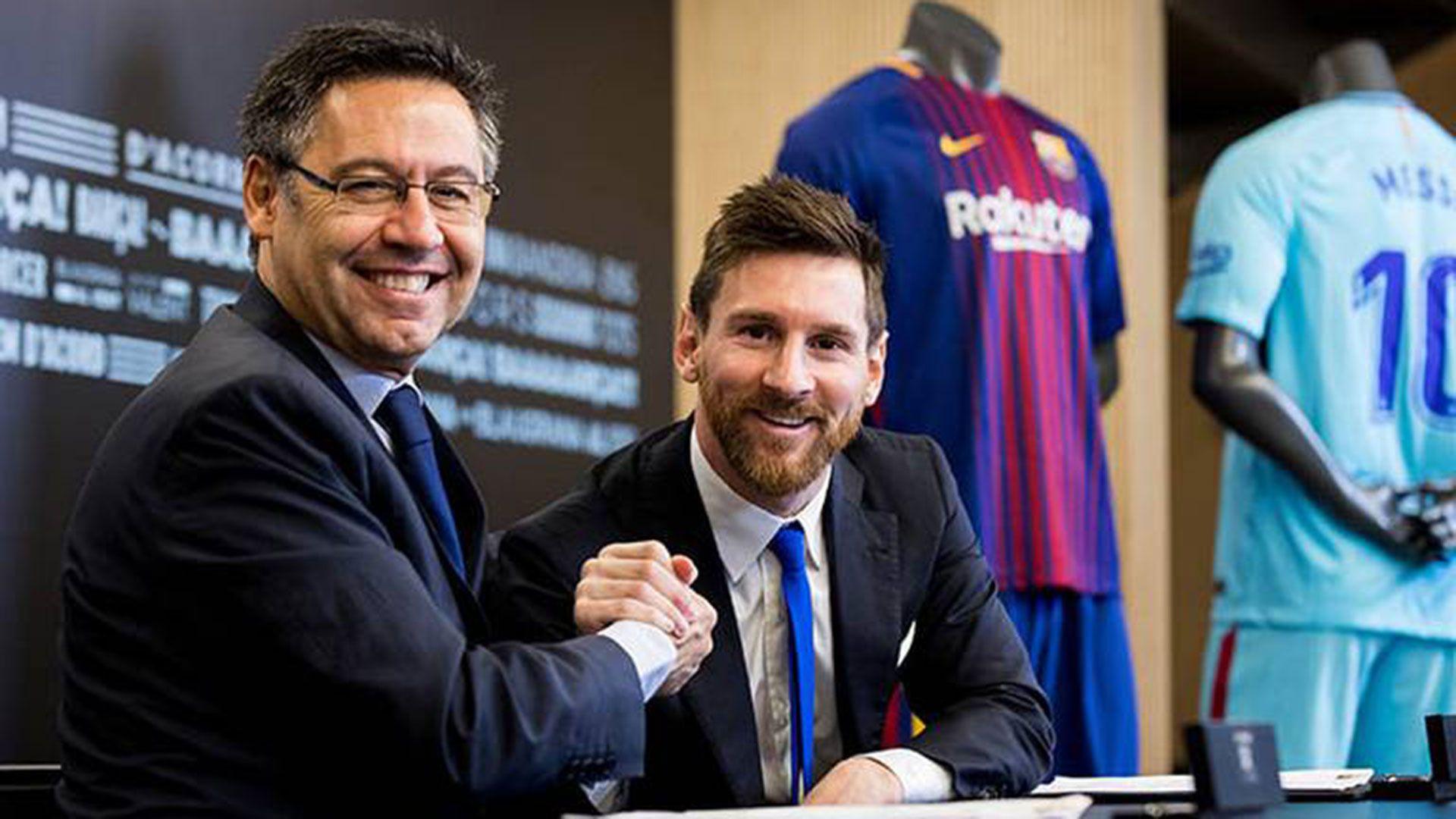 Messi firmó su última renovación de contrato en el 2017 (Foto: Reuters)