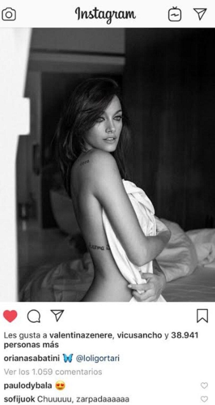 Oriana Sabatini Publicó Una Foto Desnuda Y Paulo Dybala Confirmó El