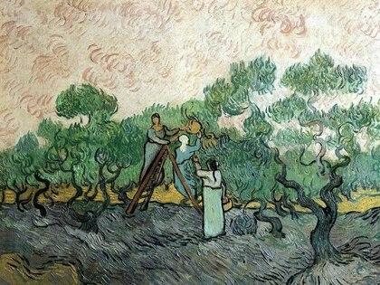 """""""Los recolectores de olivas"""", de Vincent van Gogh,es una de las obras quepodrían estar en un puerto franco: la última vez que se la vio fue en Lausana, Suiza."""
