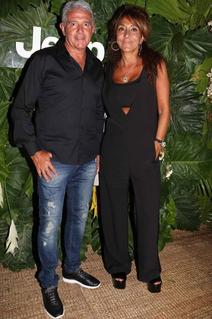 Jorge Burruchaga y su mujer