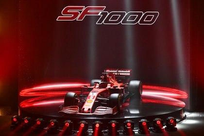 El SF1000, llamado así para celebrar la temporada en el que Ferrari competirá en su gran premio número 1.000 (REUTERS)