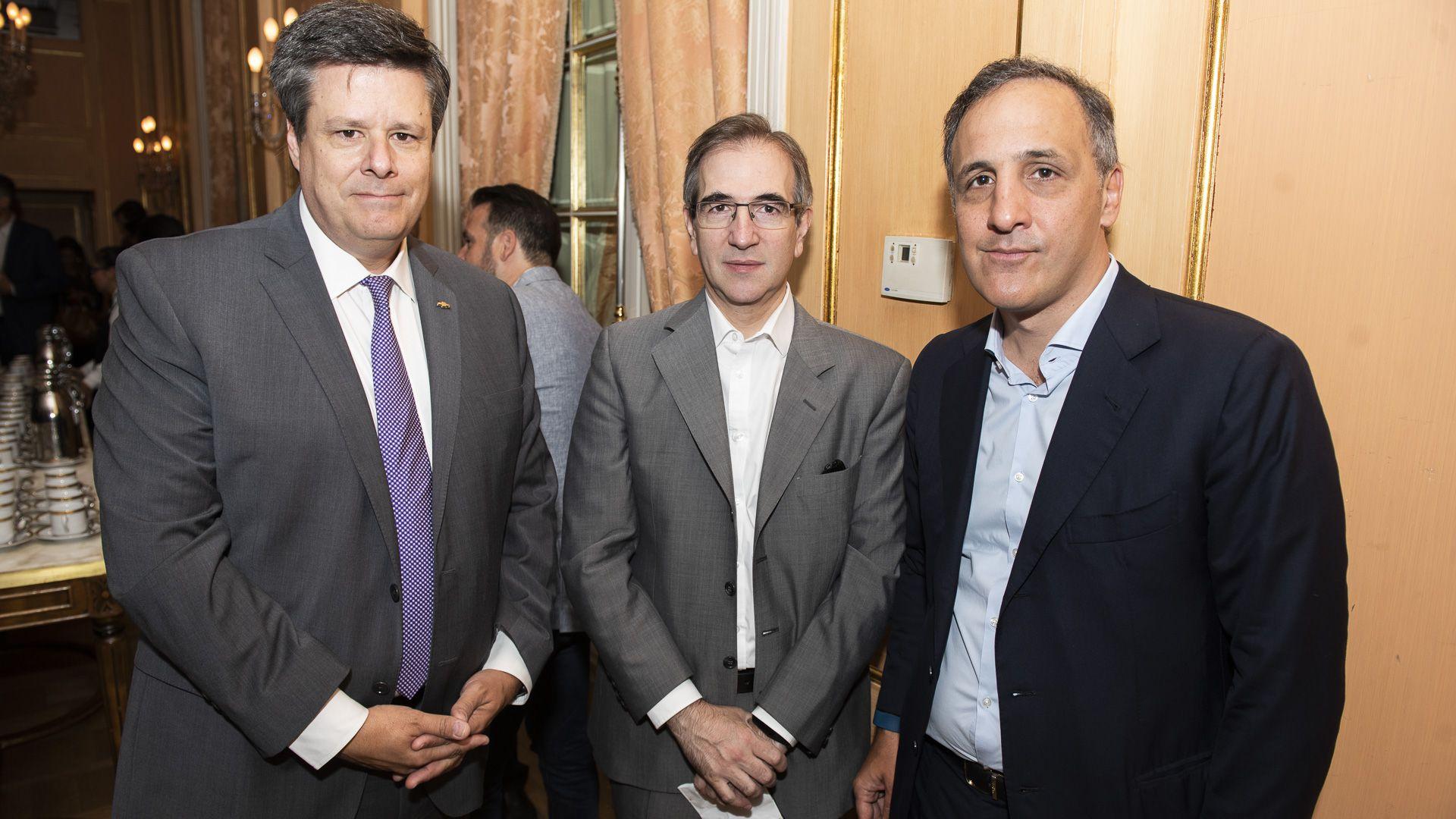 Federico Ovejero, Pedro López Matheu y Marcos Bulgheroni, CEO de PAE