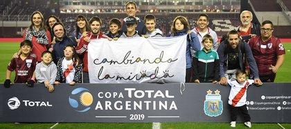 La fundación en una de sus iniciativas de la copa Argentina