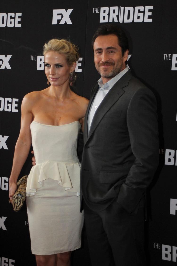 El actor mexicano Demián Bichir y su esposa, Stefanie Sherk (Foto: Saúl López/ Cuartoscuro)
