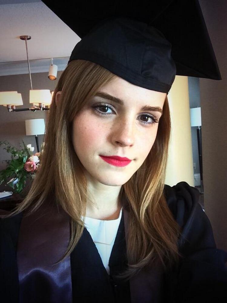 Emma Watson se graduó por la Universidad de Brown