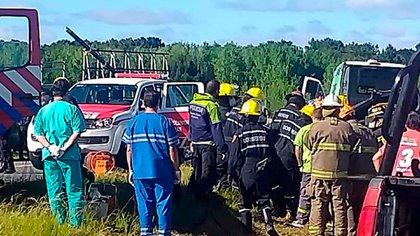 El accidente ocurrió a la altura del barrio privado Costa Esmeralda (Municipio de Pinamar)