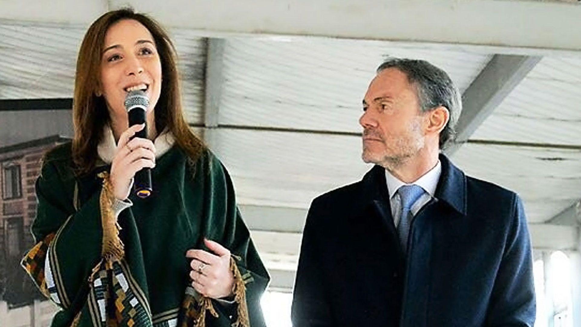 María Eugenia Vidal y Gustavo Ferrari