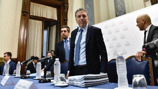 Nicolás Dujovne, durante la presentación del Presupuesto en el Congreso (Foto: Adrián Escandar)