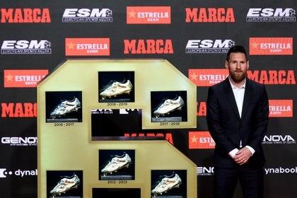 Lionel Messi era el ganador de las últimas tres Botas de Oro (AFP)