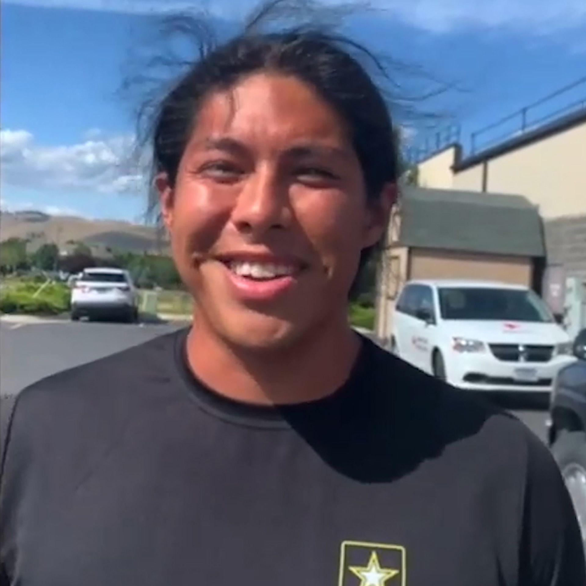 El joven viajó casi 1.500 kilómetros desde su California natal hasta Montana para poder unirse al Ejército(Foto: Salt Lake City Army Recruiting Battalion)