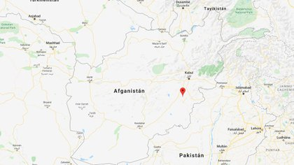 La ubicación del distrito de Deh Yak, en la provincia de Ghazni, este de Afganistán