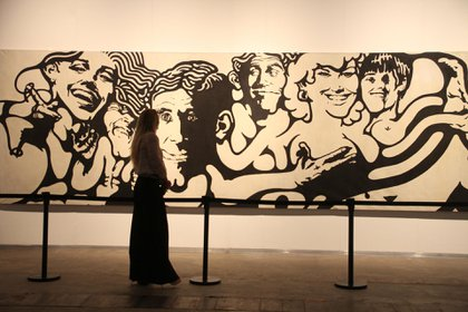 "Mural ""sin título"" de Jorge de la Vega en arteBA"