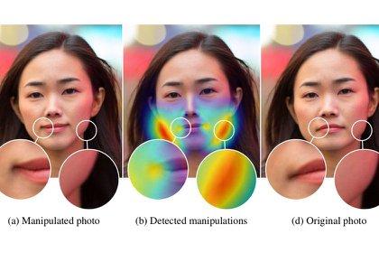 El usuario podrá darse cuenta de si se trata de una imagen falsa será a partir de la demostración de las partes modificadas con un mapa de calor. (Imagen: Adobe)