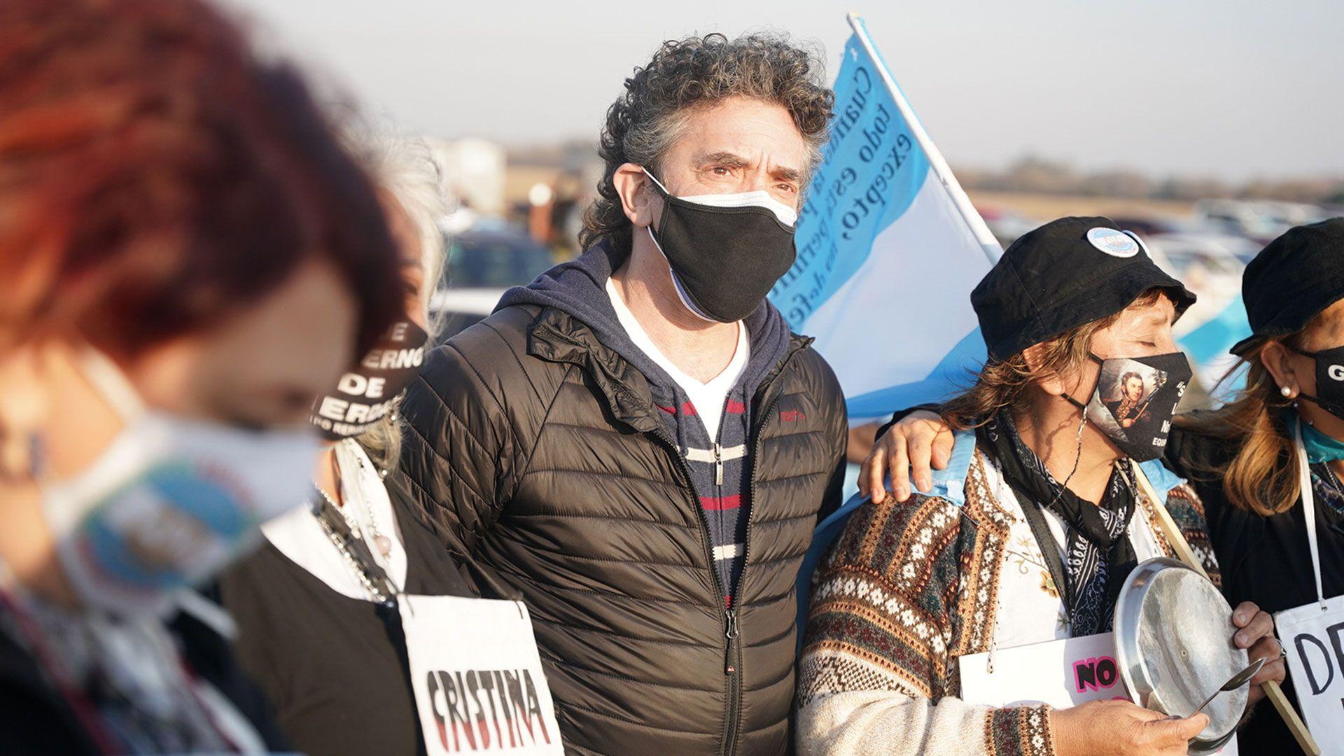 marcha protesta del campo hoy 9 de julio en contra del gobierno y las importaciones san nicolas 2