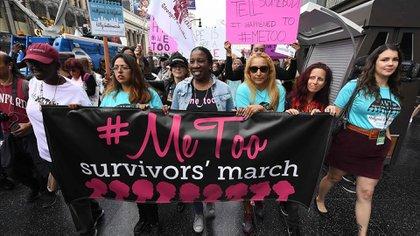 El informe hace referencia al movimiento MeToo (AFP)