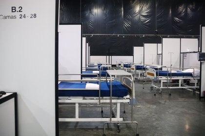 La inicitiva privada invirtió 700 millones de pesos para la instalación provisionales para atender a pacientes con coronavirus  en el Centro Citibanamex (Foto: Reuters/Edgard Garrido)