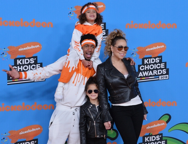 Mariah Carey con su ex Nick Cannon y sus hijos (The Grosby Group)