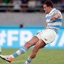 Rugby Union - Rugby World Cup 2019 - Pool C - France v Argentina - Tokyo Stadium, Tokyo, Japan - September 21, 2019 Argentina's Emiliano Boffelli misses a penalty REUTERS/Issei Kato
