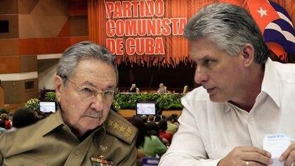 Raúl Castro y Miguel Díaz-Canel.