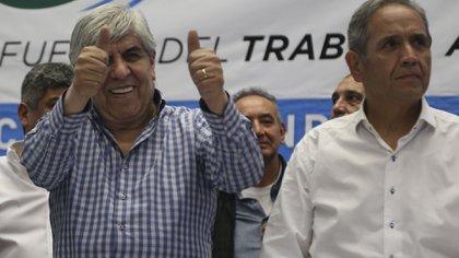 Hugo Moyano y Sergio Palazzo también comparten la pasión por Independiente