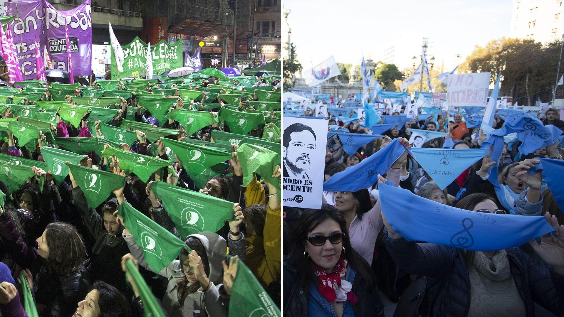 portada verdes celestes debate aborto