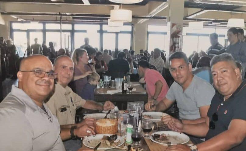 Juan Llabot, Francisco Vigil, David Bento y Wilmer Apóstol