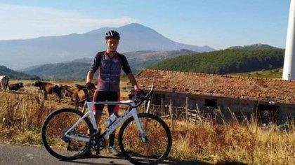 Giuseppe Milone había logrado recientemente el título de 'Rey del Etna' (@LIRRIVERENTE3)