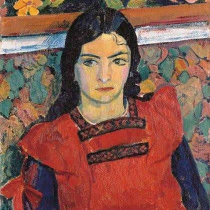 """""""Niña con flores"""", de Cuno Amiet (1913)"""