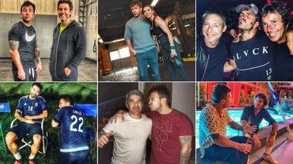 Mazzoni comparte fotos con sus amigos famosos. Varios de ellos, entrenan en su gimnasio