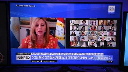 María de los Angeles Sacnun, presidenta de la comisión de Asuntos Constitucionales ( Fotos: Charly Diaz Azcue / Comunicación Senado )