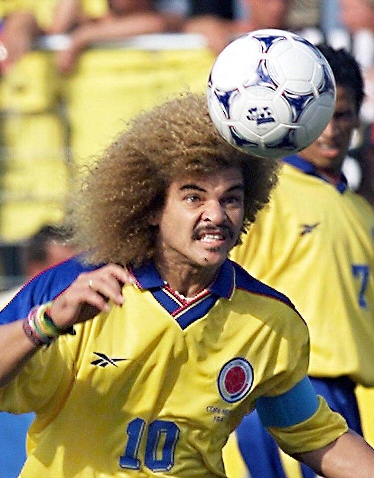 Valderrama disputó tres Mundiales con la camiseta colombiana (Foto: AFP)