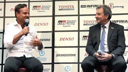 Barrichello junto a Daniel Herrero, presidente de Toyota (Prensa Toyota Gazoo Racing Argentina)