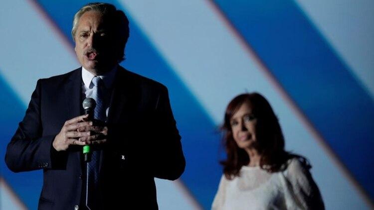 El Presidente y su vice, Cristina Fernández de Kirchner