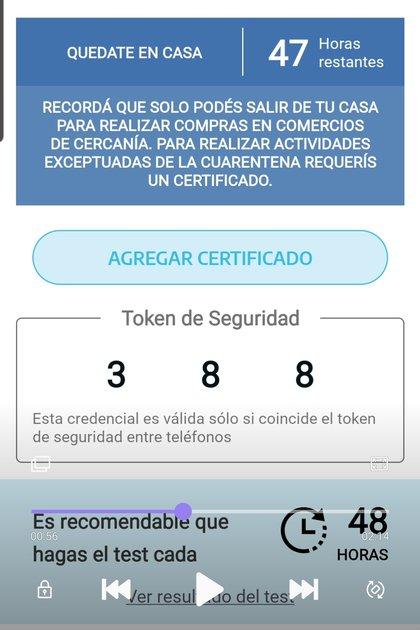 A través de la app se puede portar el certificado de circulación