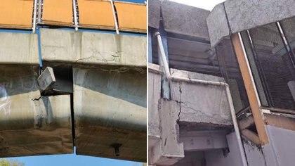 Usuarios manifestaron su preocupación por las demás estructuras con aparentes grietas en otras estaciones del Metro como Pantitlán y Oceanía Foto: @tlosanchez